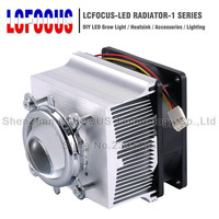 LED Heatsink Cooling Radiator + 60 90 120 Degrees Lenes + Reflector Bracket + Fans For 20 30 50 100 W Watt LED COB