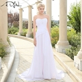 In Stock Boho Wedding Dress Sweetheart Sleeveless Corset Chiffon Cheap Bridal Gown Robe de Mariage Vestidos de Novia