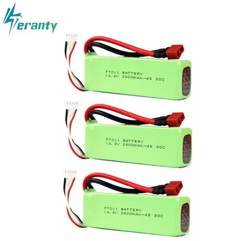 2800mah 14.8V BATTERY RC 4s Lipo Battery 14.8V 30C 803496-4s for FT010 FT011 RC boat RC Helicopter Airplanes Car Quadcopter 3pcs