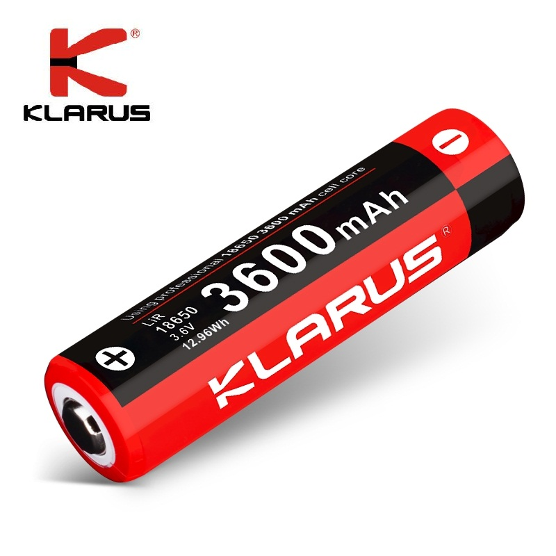 Original KLARUS 3600mAh Li-ion Cell Rechargeable 18650 Battery for Portable LED Flashlight ,Multiple Protection