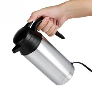 Image 3 - 12V 750ml כלי רכב מכונית קומקום חשמלי סיר נירוסטה קפה ספל עם מצית אוטומטי אביזרי קפה קומקום