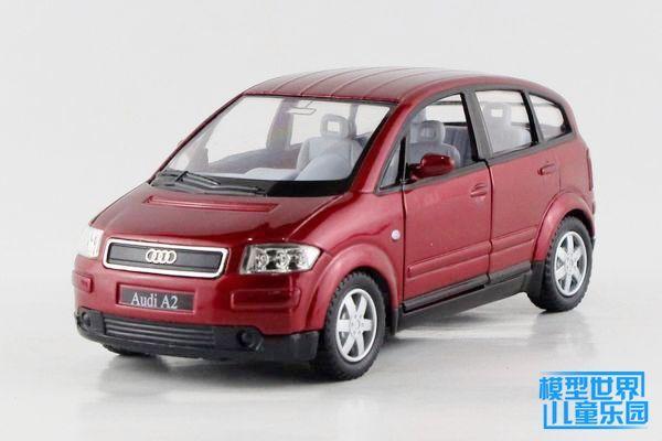 1 PC 12.5cm Kinsmart Alloy car model children's toy car 1:30 Audi Audi A2 back in double open the door children gifts