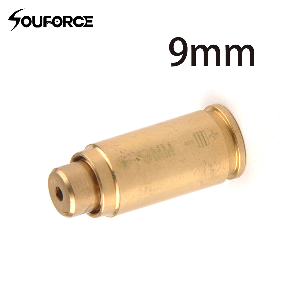 Laser Bore Sight Cal: 9mm Cartridge Copper Red Laser Bore Sight For Hunting With Free Shipping