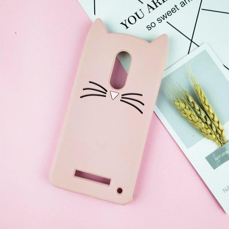 3D Cartoon Glitter Cat Silicone Phone Case For Xiaomi Redmi Note 3 Pro 4 4X Ears Bearded Cat Soft Cover