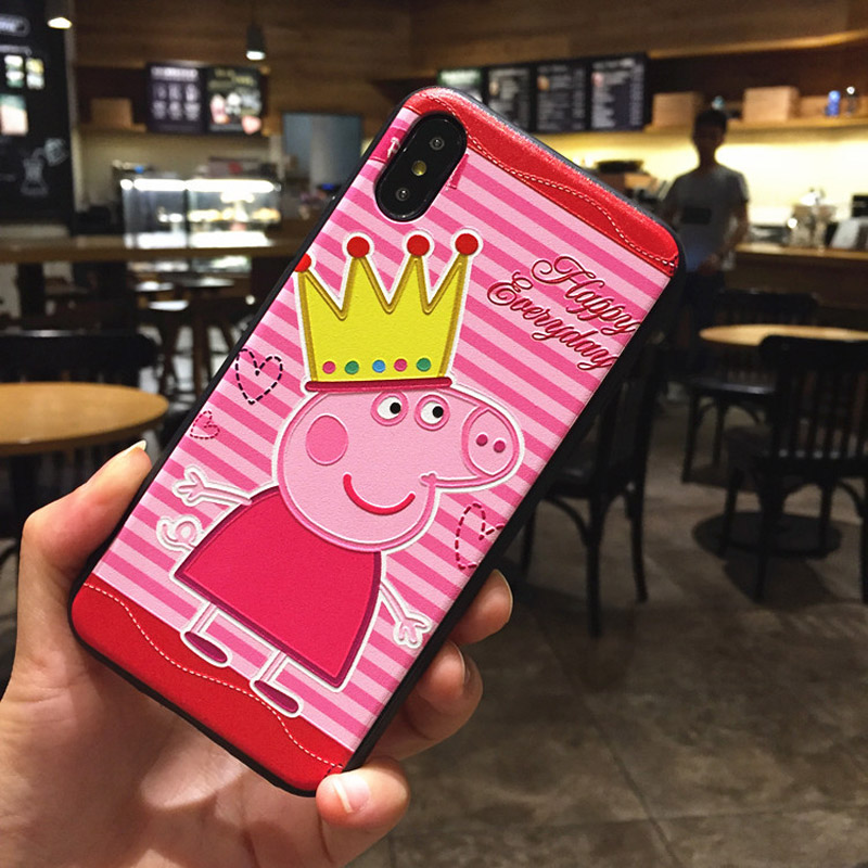 Applicable to iphone6 7 8 X XR XMAX mobile phone shell painted social people small hunting Pei TPU soft shell anti fall in Half wrapped Cases from Cellphones Telecommunications