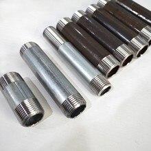 6 stücke tubo hierro fundido dn15 flansch 1/2 Länge 15 cm-50 cm rohr industrielle eisen flansch demir boru