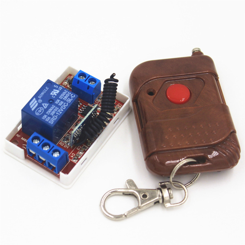 433Mhz Universal Wireless Remote Control Switch DC 12V 10A 1CH relay Receiver Module and RF Transmitter Remote Controls universal wireless remote control light switch dc 5v 10a 1ch receiver relay rf transmitter 433mhz controls for door garage