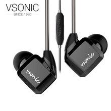 VSONIC 2018 NEW GR07 i Low Impedance In-Ear Earphone In-line control Microphone 32ohm Dynamic Noise Isolation HIFI Earphones