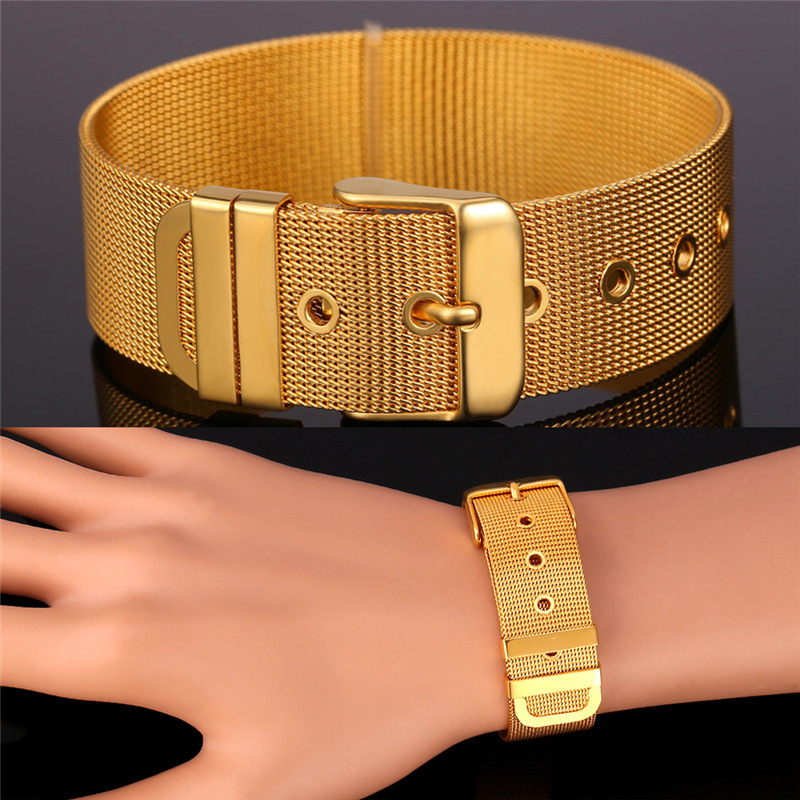 Collare Trendy Bracelet Men Jewelry Watchband Style Wholesale Gold ...