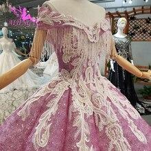 AIJINGYU robe de mariée Vintage robes dentelle blanche Couture Sexy pas cher acheter fiançailles à manches longues robe de mariée robes pour mariage
