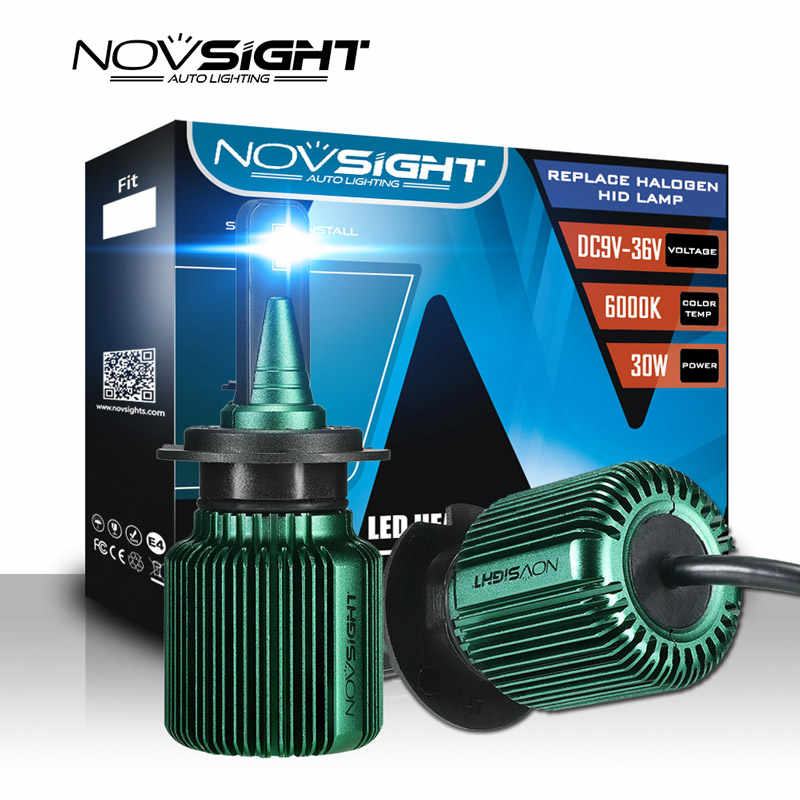 NOVSIGHT 2pcs turbo led car light h4 h7 h11 h8 led bulb 6500k 12v 24v 10000lm IP68 waterproof super led car headlight bulbs