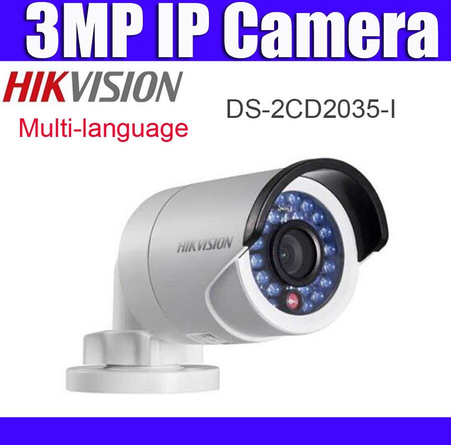 imágenes para 3 mega píxeles de 1080 P POE Cámara IP 3mp HIK DS-2CD2035-I reemplazar DS-2CD2042WD-I H.265 CCTV Cámara Mini Cámara de la Bala Al Aire Libre
