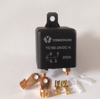 4.8W ,200A High current start relay, 24V YC180 24VDC A Type, High Power Automotive Relay ,Intermittent