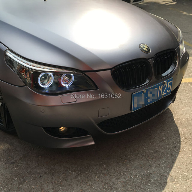 for bmw e60 520i 523i 525i 530i led angel eyes head lamp. Black Bedroom Furniture Sets. Home Design Ideas