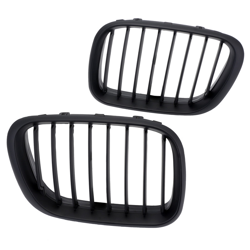 For BMW X5 E53 1998 1999 2000 2001 2002 2003 Matte Black Front Kidney Sport Racing Grills Grille Car SUV Styling D15