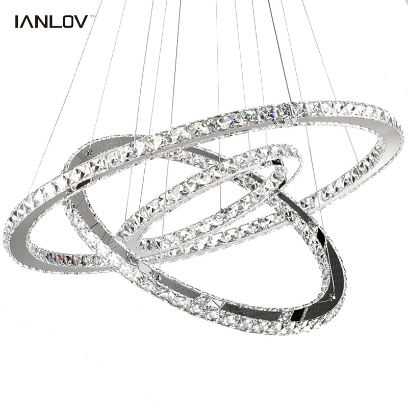 Modern K9 crystal rings chandeliers lights LED ceiling fixture for living dining room lamp restaurant design hanging lighting modern crystal chandelier led hanging lighting european style glass chandeliers light for living dining room restaurant decor