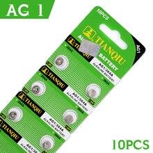 Botão de 1.55 PCS para Assistir Venda 10 Bateria DA Tecla AG1 364 Sr621 Sr60 Sr60l Alcalinas Pilhas Botão de Célula tipo Moeda 1.55 V Sr621sw Relógio