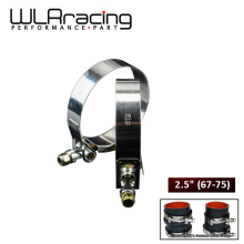 """WLR-(2 шт./лот) зажимы 2,"""" 67 мм-75 мм из нержавеющей силикона турбо шланг муфта Т болт зажим Комплект Высокое качество SS304 WLR5252"""