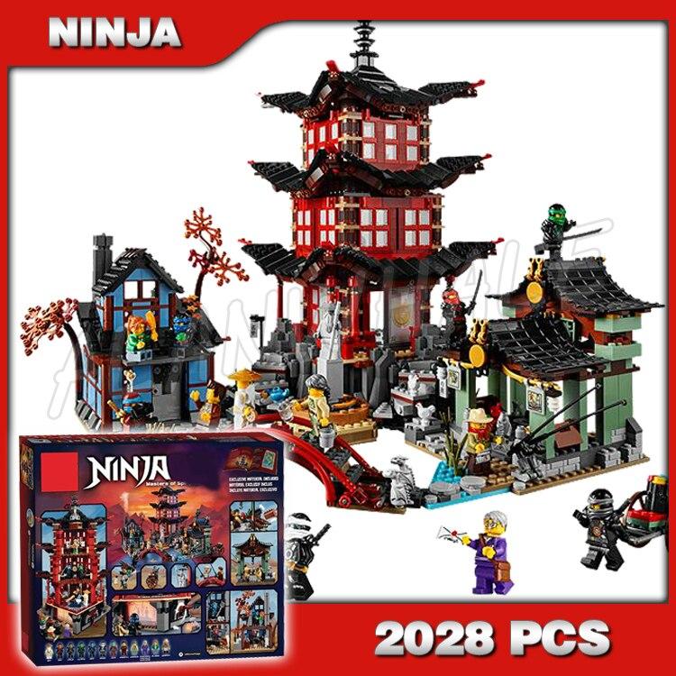 2028 pcs Blocos de Construção do Castelo Ninja Ninja Templo Da Cidade de Airjitzu 10427 Bricks Modelo Melhores Presentes Grandes Brinquedos Compatíveis Com lego