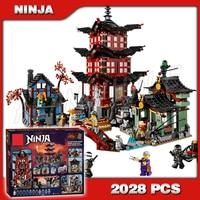 2028pcs Ninja City Temple of Airjitzu Castle Building Blocks Ninja 10427 Model Bricks Best Large Gifts Toys Compatible With lego