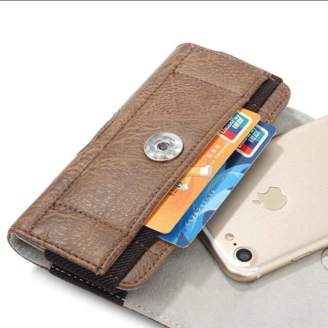 Uniwersalna torba na telefon w stylu vintage z zaczepem na pasek dla - Części i akcesoria do telefonów komórkowych i smartfonów - Zdjęcie 2