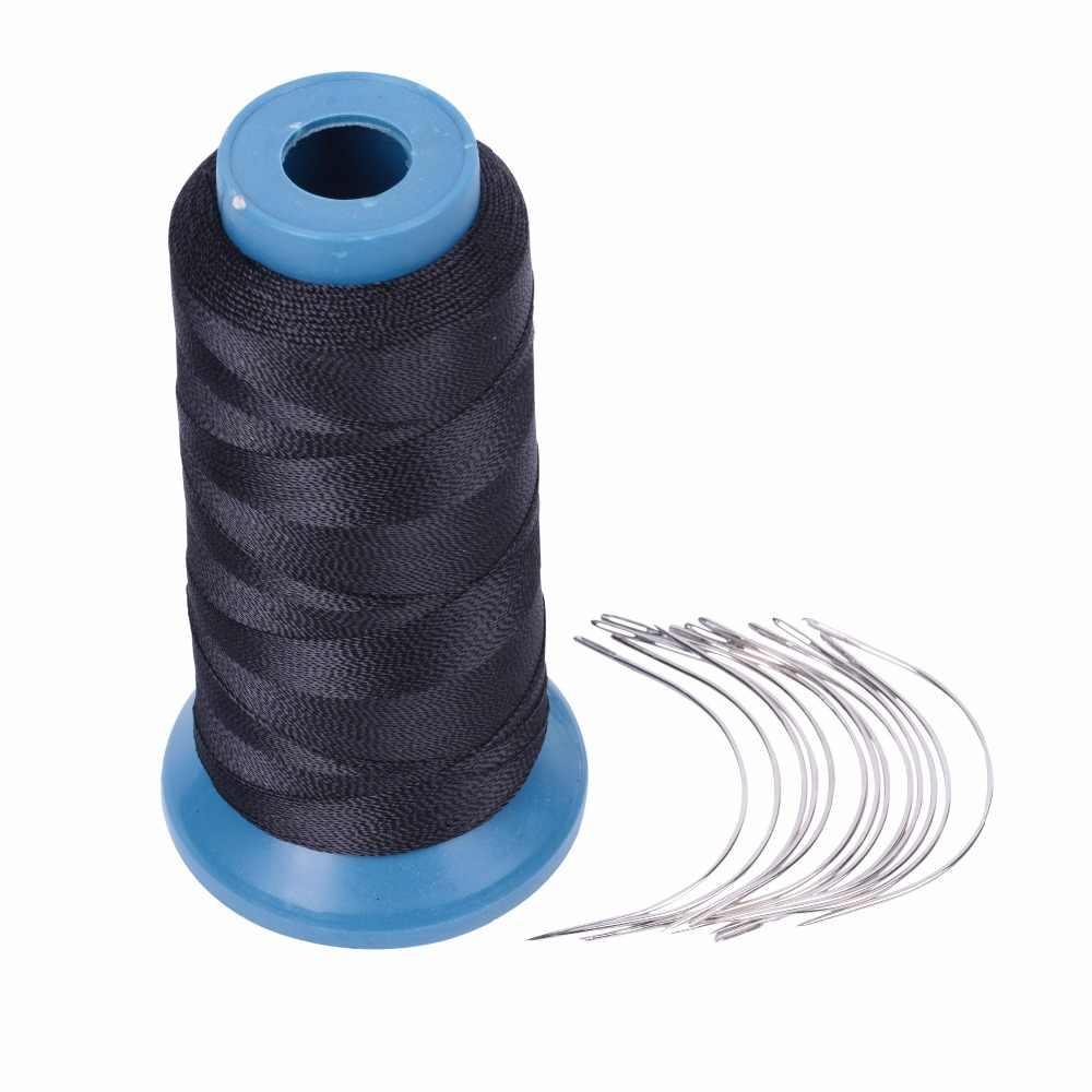 1 рулон черный волосяная нить высокой интенсивности Полиамид нитки 12 шт. 9 см ткачество Вышивка крестом иглы/C Тип иглы/изогнутая игла
