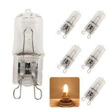 5x качество 25 Вт 40 Вт 60 Вт G9 2800-3000 К галогенная лампа 220 В капсула Чистый теплый белый свет 220-230 В