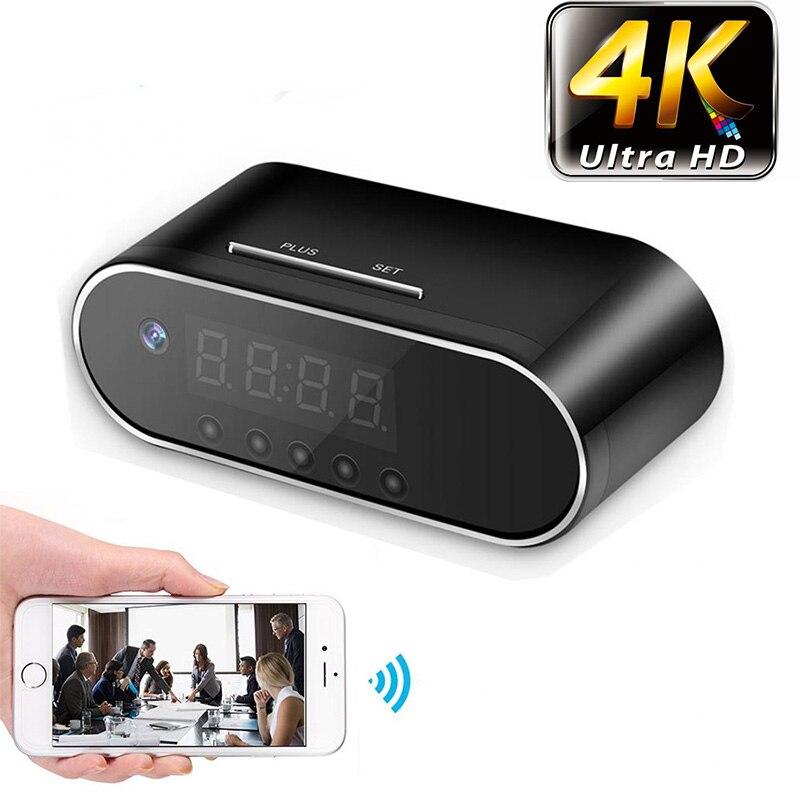 4 K/1080 P Remote Erkennung Mini Uhr Kamera Alarm P2P Livecam IR Nachtsicht Wifi Cam IP Mini DV DVR Camcorder Invisible versteckte