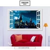 The Vampire Castle Spirit Castle 3D Wall Poster STICKER WALL Party Decoratios Secret World Size 900x600mm
