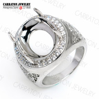 RSHC3002 Genuine 925 Sterling Silver High Quality Big Men S Ring Without Main Stone Ready