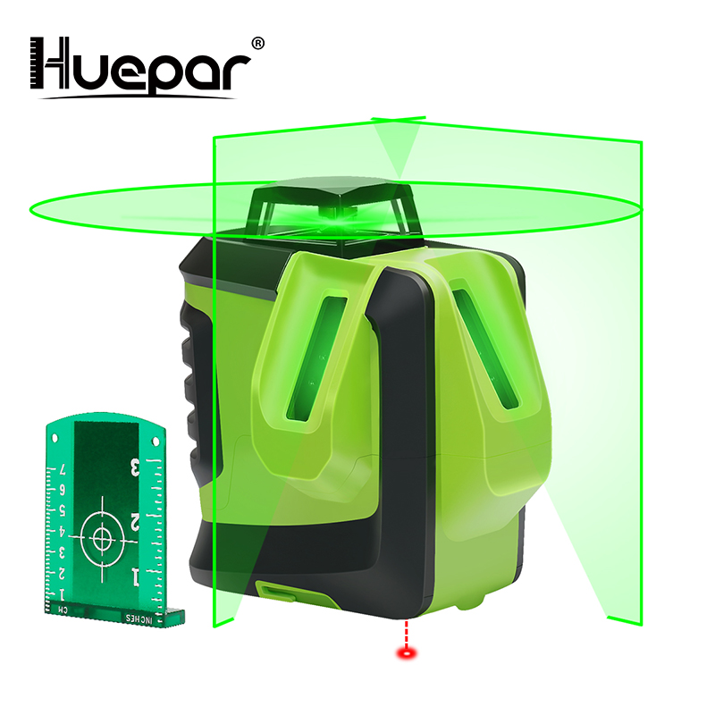 Huepar Green Beam Cross Laser Level 360 Degree Horizontal