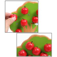 Wooden math toys learning education educational Magnetic apple tree for children boys new magnetic simulation apple tree apple tree