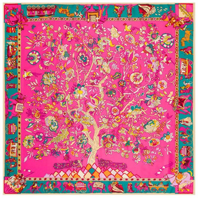 Twill Silk Women Scarf 130 * 130 სმ ევრო - ტანსაცმლის აქსესუარები - ფოტო 3