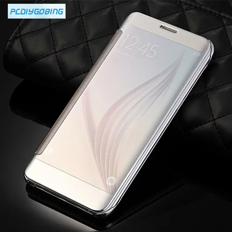 2019 New mirror window clear View Flip Cover for Samsung Galaxy A3 A5 A7 2017 A8 A9 A310 A510