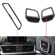 3x Auto Console Auto Aria Condizionata Sfogo Presa di Copertura Trim Styling Sticker Fit Per Mazda 3 Axela 2014-2016 accessori interni