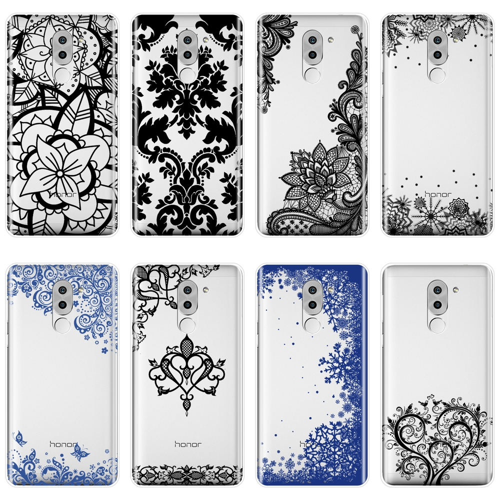 TPU For Huawei <font><b>Honor</b></font> 4C 5C 6C 6A Pro <font><b>Case</b></font> Silicone Soft Aesthetic Lace <font><b>Sexy</b></font> Back Cover For Huawei <font><b>Honor</b></font> 4X 5A 5X 6 <font><b>6X</b></font> <font><b>Phone</b></font> <font><b>Case</b></font> image