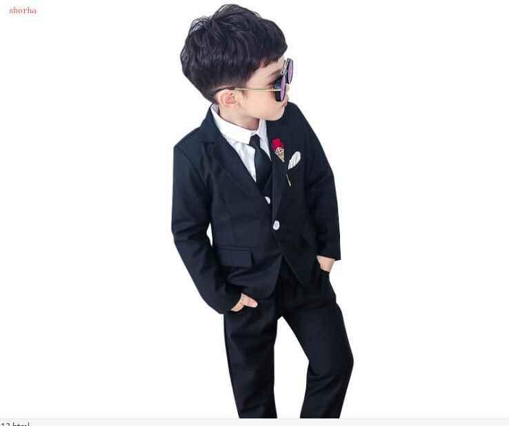 Mode Jongens Pak Voor Kinderen Prins Stage Performance Formele Pak Verjaardag Bloem Kid School Suit ceremony chorus kostuum