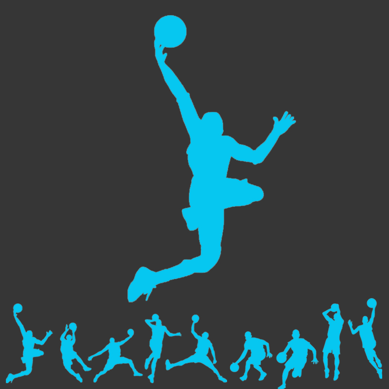 Hot sale 1PCS New Luminous Play basketball Cartoon DIY Wall Stickers for kids rooms bedroom wall sticker Home decor Living Room