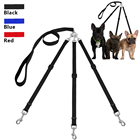 Three Way Dog Leash Triple Pet Leads No Tangle With Adjustable Detachable Dog Coupler for One,Two,Three Samll Medium Large Dogs