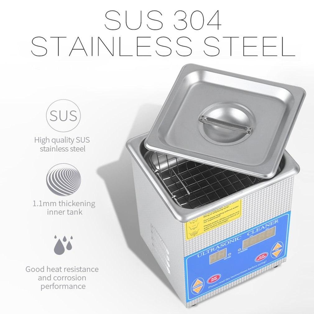 Profissional de Aço Inoxidável Litros 1.3L Indústria Limpeza Ultra sônica Aquecedor Aquecido Grande Timer Digital E Display de Temperatura - 6