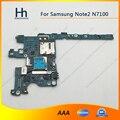Completo de trabajo abierto original para samsung galaxy note2 note 2 n7100 placa base placa lógica placa madre mb