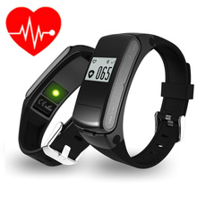 2017 New Design Heart Rate Smartband Bluetooth Earphone 2 in 1 Smart Bracelet Healthy Sports Wristband for Iphone Xiaomi Sony