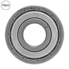 10Pcs (6201-zz) 32x12x10mm Deep Groove Double Shielded Bearing Steel Ball Single Column Bearing ball bearing