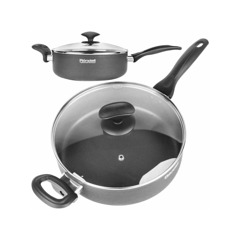 Saucepan with lid Rondell Weller RDA-065 (Diameter 24 cm non-stick coating) stewpot with cover rondell lumiere rda 596 diameter 26 cm non stick coating
