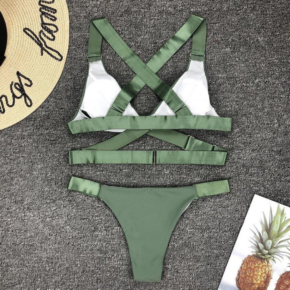 Fabulous Women Bodysuit Split Swimsuit Pure Color Low-Waisted Bikini Vintage Women's Swimming Suit Summer Sex Appeal Beachwear