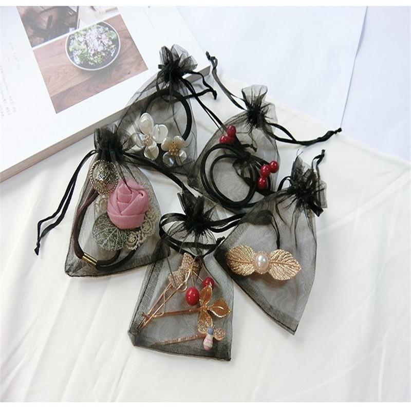10pcs Organza Bag Wedding Candy Special Design Storage Jewelry Phone Beauty Girl Woman Gift Package 7x9cm 9x12cm 10x15cm 13x18cm