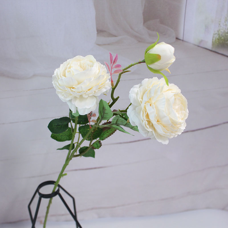 white peony artificial roses fake flowers (8)
