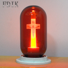 LED bulb E27 90-265V Red Flame Peaceful Mind Light Cross Jesus Church Bulb cathedral Bar Pray Hotel Square Decorative lamp