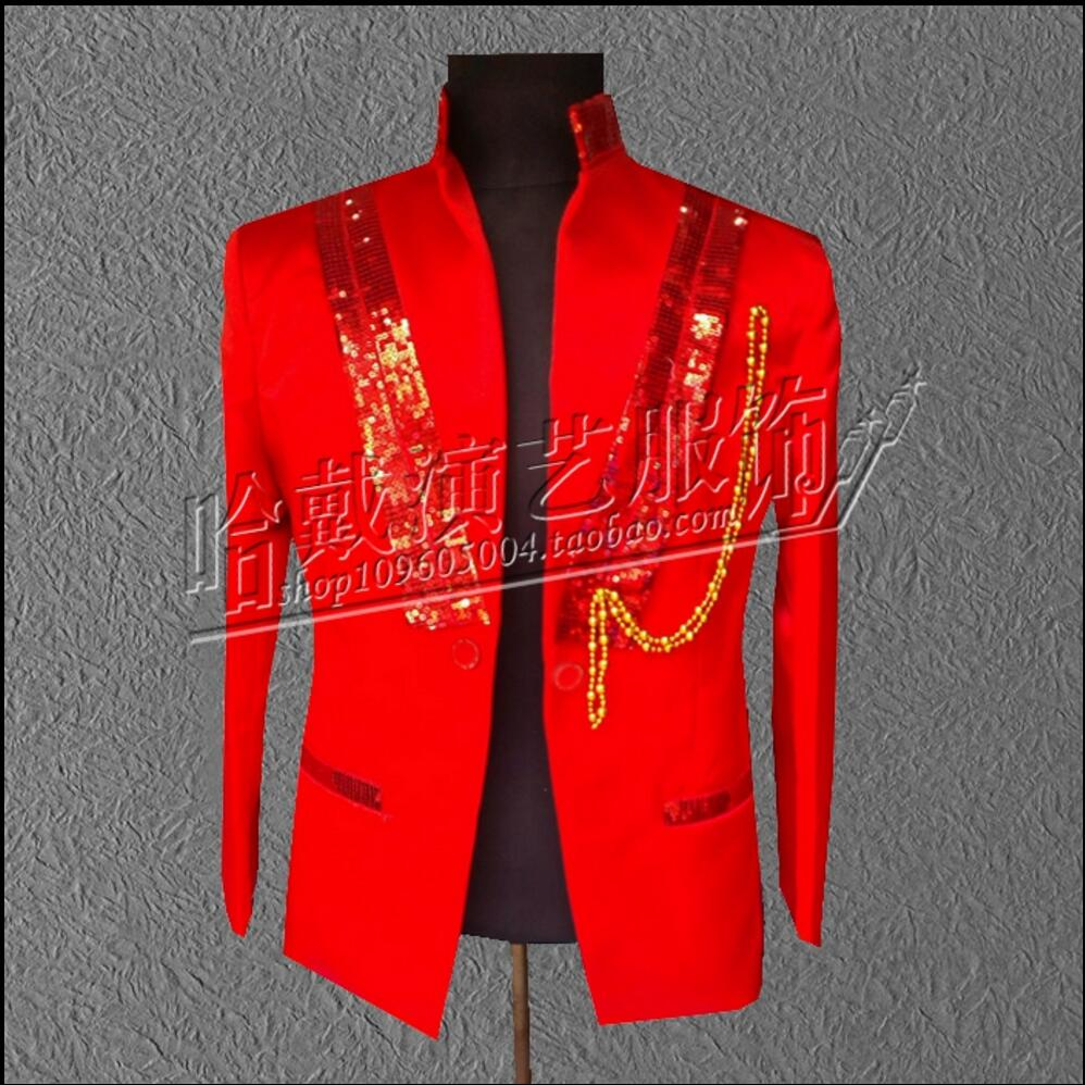 S-5XL New Nightclub Men's Magician Suit Sequins Bar Theatrical Blazers Costume Host Singer Stage Suit Jacket Plus Size Clothing