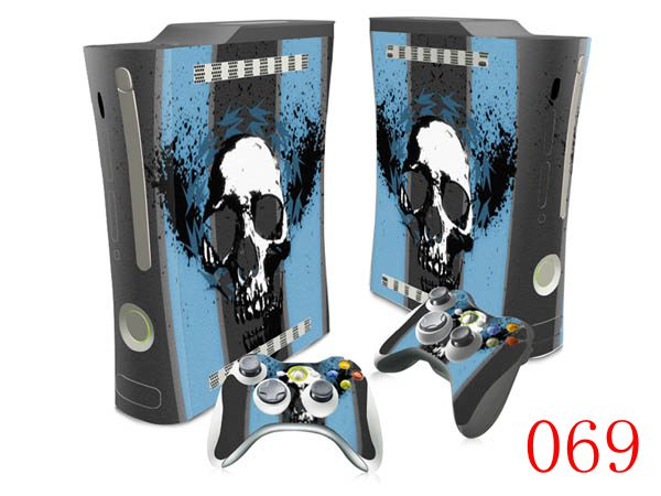 OSTSTICKER Skul Vinyl Skin Full Set Stickers For Xbox 360 Fat Console 2 Controllers Cover Decal In From Consumer Electronics On